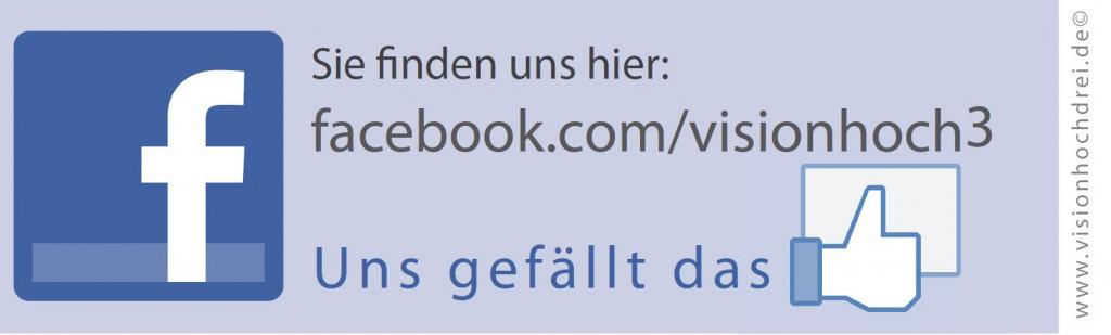 Facebook Aufkleber VISION³