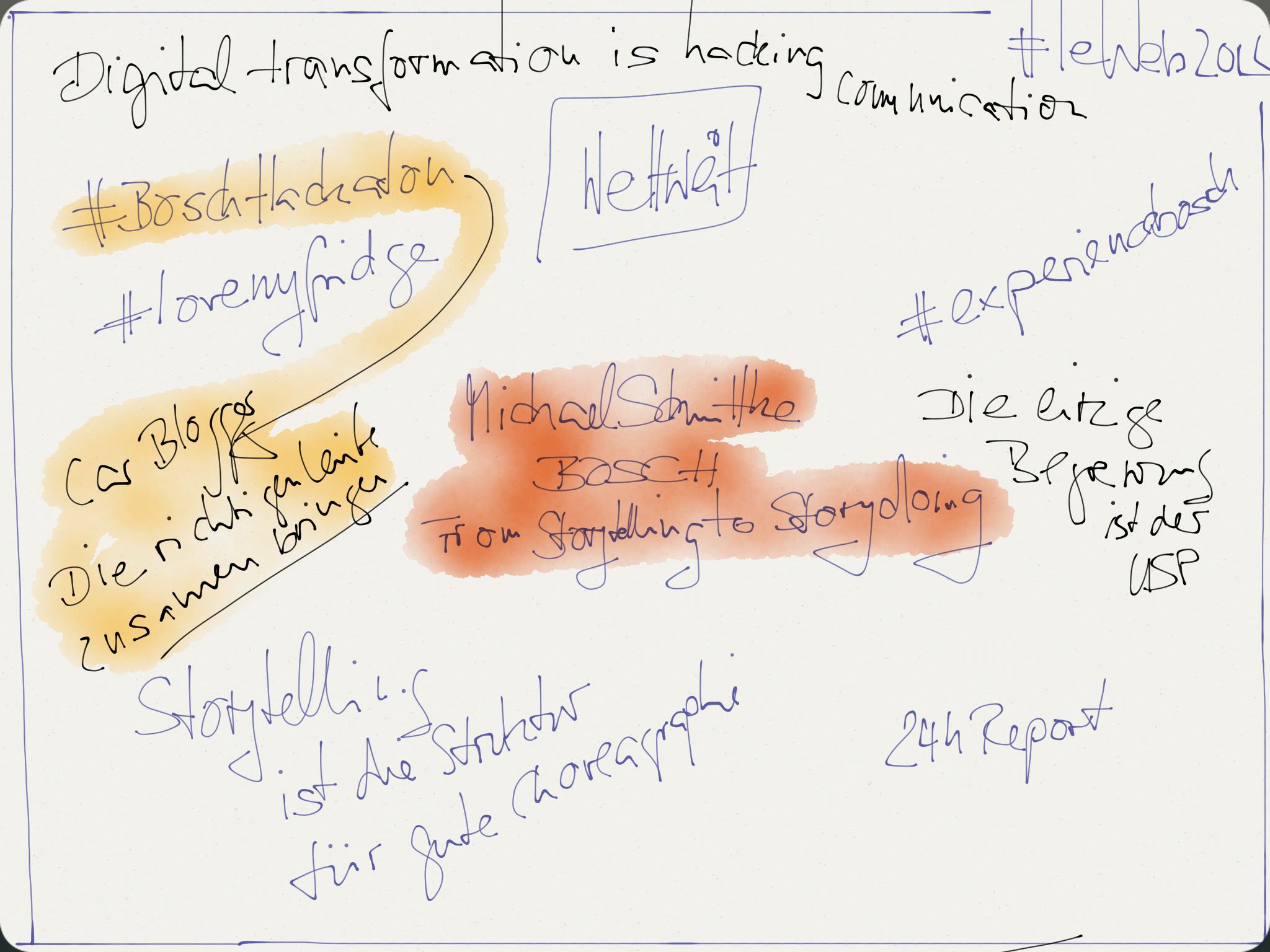 Mitschrift Michael Schmitke, Bosch, LeWeb2014