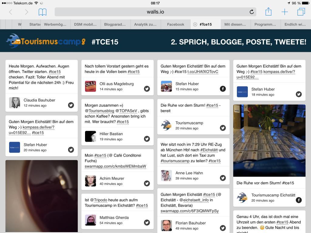 Twitterwall #tce15
